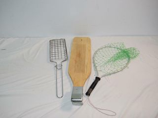 Fish Net  Cutting Board  Camp Grill
