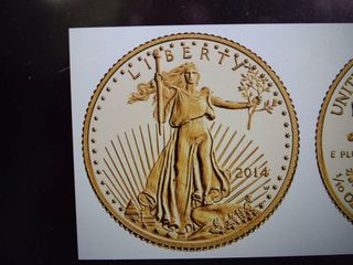 2014 American Gold Eagle  5 golf coin