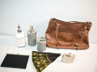 Flask  Fan  Nine West Purse imperfect  etc