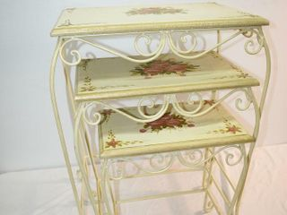 Set of 3 Wrought Iron Nesting Tables