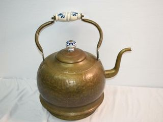 large Decor Kettle with Delft Handles