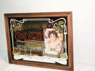 Coca Cola Mirror Framed 24 5  x 18 5