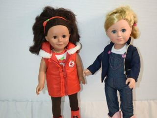 Two 18  American Girl Style Dolls