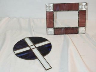 Stained Glass Cross   Photo Frame