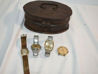 Vintage Men s Watches in Metal Box