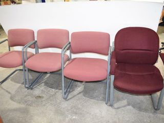 4 Upholstered Office Chairs
