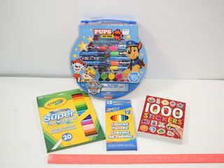 Art Kit  Stickers  Markers   Pencil Crayons