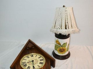 Clock  25  T  and lamp