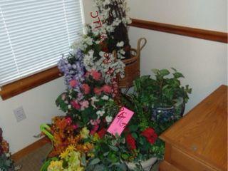 Faux flowers  plants  pots  vases   others