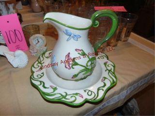 2qt water pitcher   matching bowl