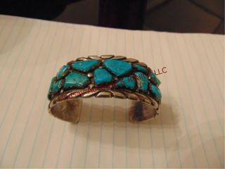 Wayne silver bracelet w  turquoise stones