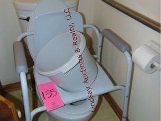 Handicap bedside toilet assist
