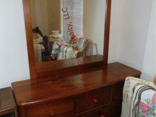 Wood 7 drawer dresser w  mirror  approx 55x18x80