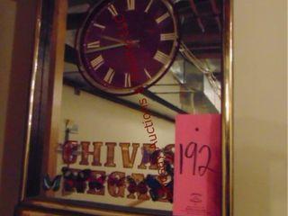 Chivas Regal mirror clock  approx 18  x 23