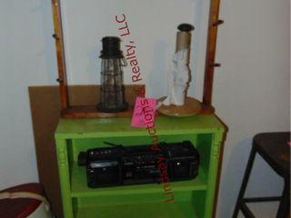 Wood rack  radio  wood shelf  24 x10 x36    other