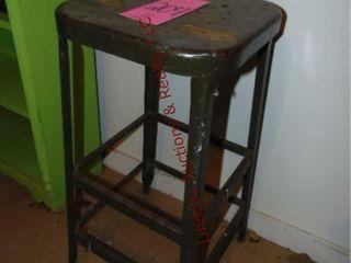 Metal stool  14 x 14 x 30