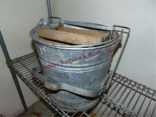 Vintage metal wash bucket SEE PICS