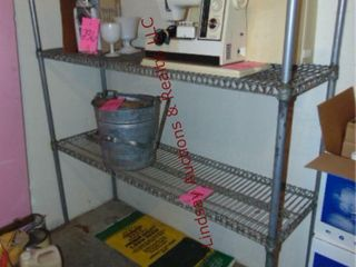 2 tier metal shelf  approx 60 x 18 x 60