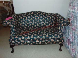 Animal print sofa  approx 64  wide