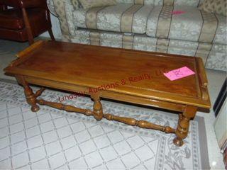 Wood coffee table  48 x 20 x 16