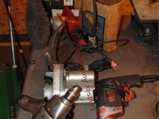 5 pcs  Powr Kraft elec 3 8  drill  Sears Craftsman