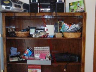 CONTENTS of desk  2 radios  adding machine
