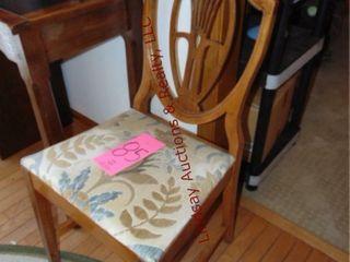 Wood chair w  cushion