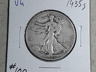 1935 S Walking liberty Half Dollar VG