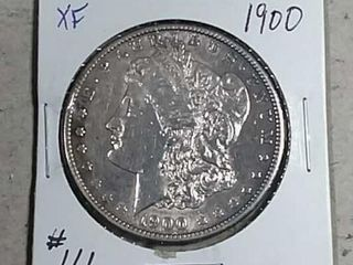 1900 Morgan Dollar XF detail polished