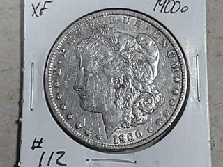 1900 O Morgan Dollar XF detail old cleaning
