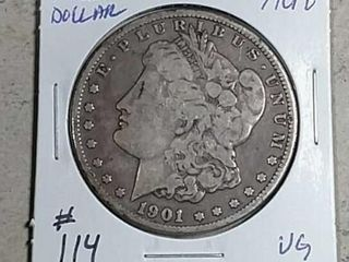 1901 O Morgan Dollar VG