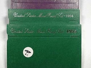 1992  1994   1995 US  Mint Proof sets