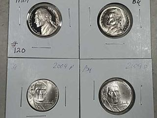 1980 S  1992 D  2009 P D Jefferson Nickels