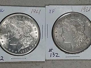 1921   1921 S Morgan Dollars Unc   XF