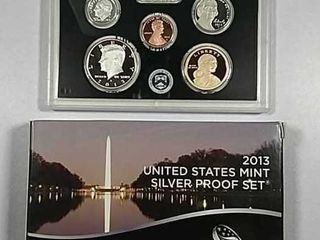 2013 US  Mint Silver Proof set