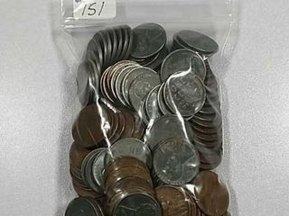 145 lincoln  Wheat  Cents 70 are wartime steel