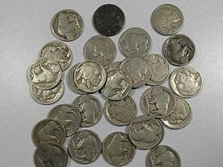 28 Buffalo Nickels Most are no dates