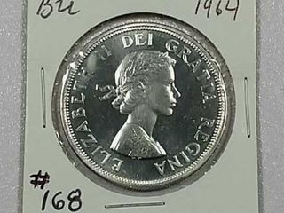 1964 Canadian Dollar BU