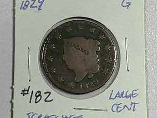 1829 large Cent G scratches