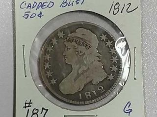 1812 Capped Bust Half Dollar G