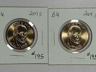 2009 D   2009 D James Polk Dollars BU