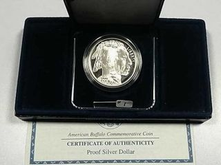 2001 P American Buffalo Comm  Proof Silver Dollar