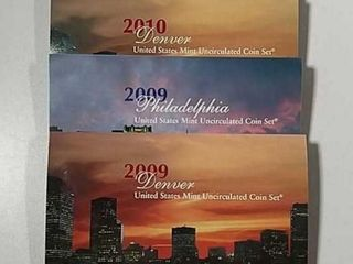 2009   2010 P D US  Mint Uncirculated sets