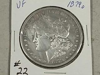 1879 O Morgan Dollar VF details cleaned