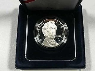 2009 P Abraham lincoln Comm  Silver Dollar Proof