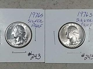 1976 S   1976 S Washington Silver Quarters Proof