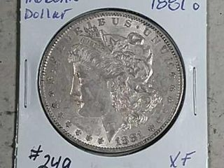 1881 O Morgan Dollar XF