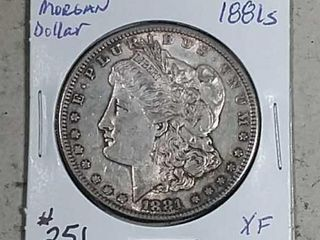 1881 S Morgan Dollar XF