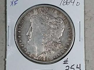 1884 O Morgan Dollar XF