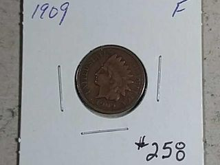 1909 Indian Head Cent F